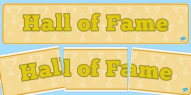 Hall of Fame Display Banner - display banner, hall, fame, display