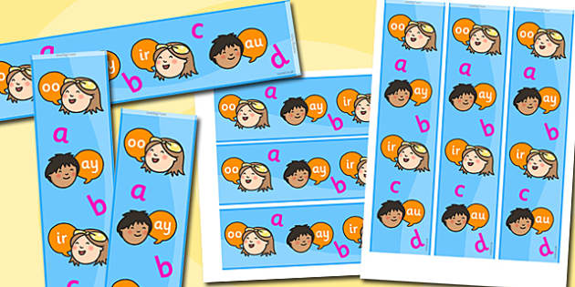 Phonics Themed Display Borders - phonics, display borders, display, borders