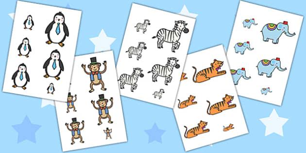 Animal Size Ordering - animal, size ordering, size, order, shape