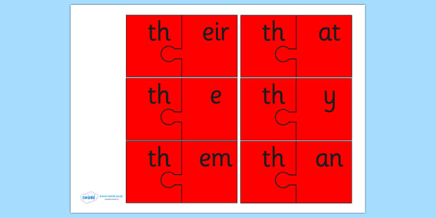th and Vowel Production Jigsaw Cut Outs - th, game, jigsaw, sound