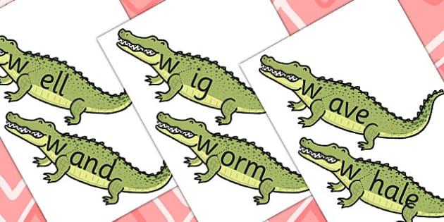 w Sound And Vowel Animal Jigsaw - sounds, vowels, jigsaw, animals
