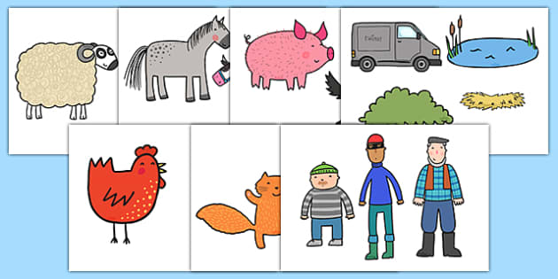 Story Cut Outs to Support Teaching on What the Ladybird Heard - what the ladybird heard,  cut-outs, cutouts, display cutouts, images, pictures, display pictures, display images