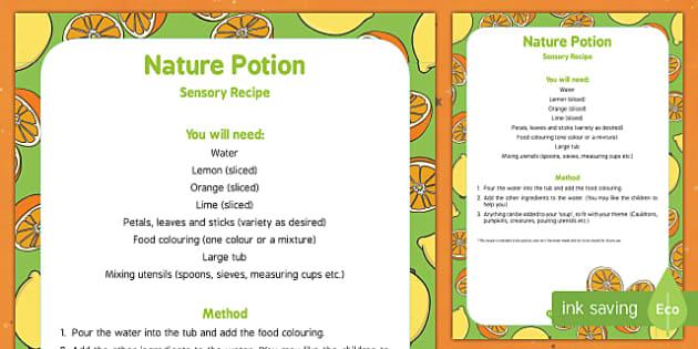 Nature Potion Edible Sensory Recipe