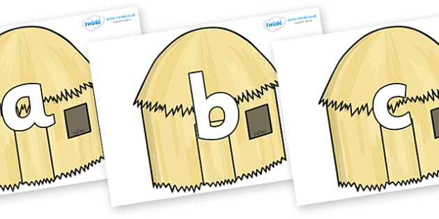 Phoneme Set on Straw houses - Phoneme set, phonemes, phoneme, Letters and Sounds, DfES, display, Phase 1, Phase 2, Phase 3, Phase 5, Foundation, Literacy