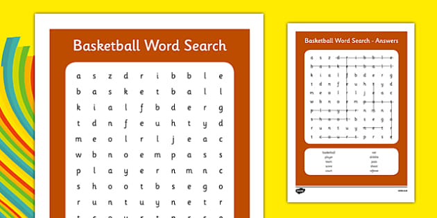 Rio 2016 Basketball Word Search - rio 2016, 2016 olympics, rio olympics, basketball, wordsearch, word search