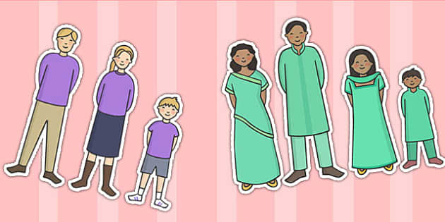 Editable Family Characters - family, characters, display, cut out
