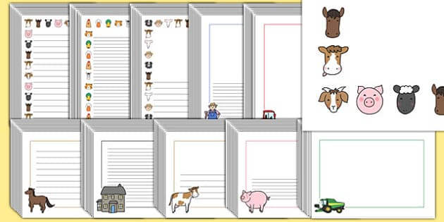 Editable Farm Page Borders Pack - editable, farm, page borders