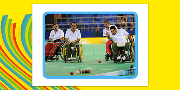 The Paralympics Boccia Display Photos - Boccia, ball, Paralympics, sports, wheelchair, visually impaired, display, photo, photos, poster, 2012, London, Olympics, events, medal, compete, Olympic Games