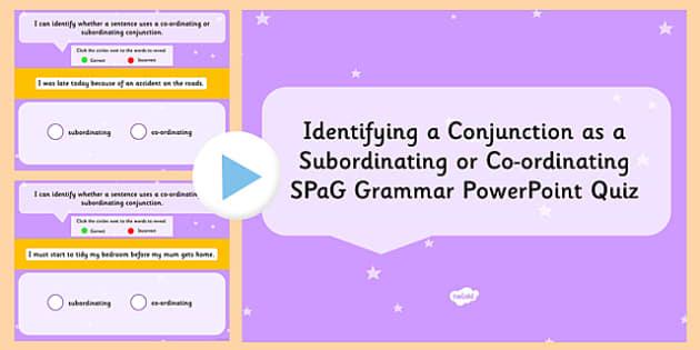 Identifying Subordinating Coordinating Conjunctions – Subordinating Conjunctions Worksheet