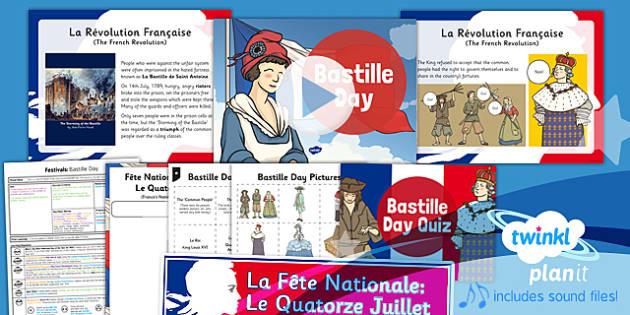 PlanIt - French KS2 - Bastille Day Lesson Pack - planit, bastille, day, lesson