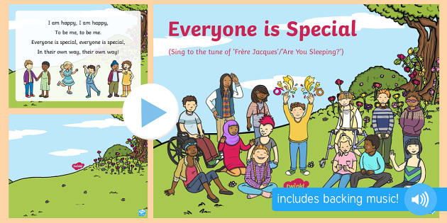 Everyone Is Special Song PowerPoint