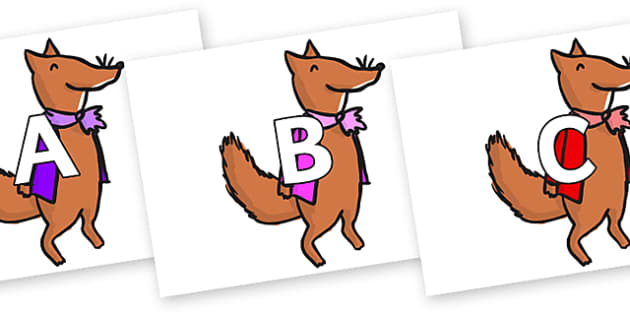 A-Z Alphabet on Small Fox 1 to Support Teaching on Fantastic Mr Fox - A-Z, A4, display, Alphabet frieze, Display letters, Letter posters, A-Z letters, Alphabet flashcards