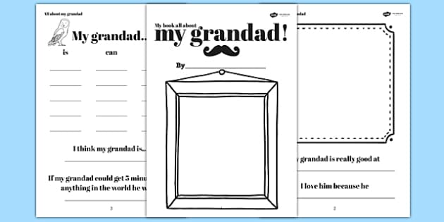 A Book About My Grandad Father's Day Gift Ideas - granddad, fathers day