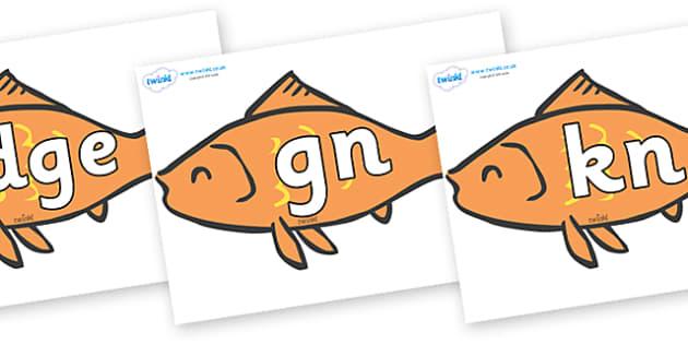 Silent Letters on Goldfish - Silent Letters, silent letter, letter blend, consonant, consonants, digraph, trigraph, A-Z letters, literacy, alphabet, letters, alternative sounds