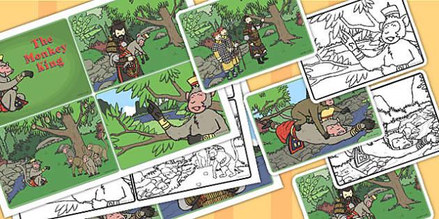 Monkey King Visual Aids Out Of Order 4xA4 - monkey king, visual
