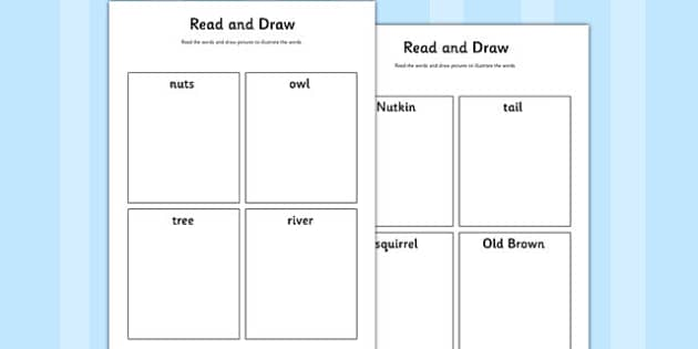 The Tale of Squirrel Nutkin Read and Draw Worksheet - squirrel nutkin