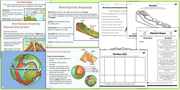 Physical Geography Teaching Pack - KS2 geography, resource pack