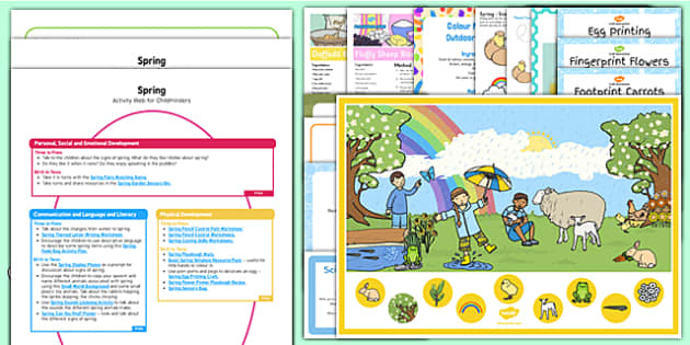 Childminder Spring Activity Web and Resource Pack - Spring, EYFS
