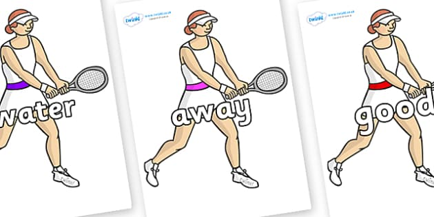 Next 200 Common Words on Tennis Players - Next 200 Common Words on  - DfES Letters and Sounds, Letters and Sounds, Letters and sounds words, Common words, 200 common words