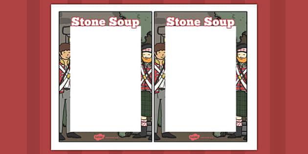 Stone Soup Editable Note - stone soup, editable note, note, edit