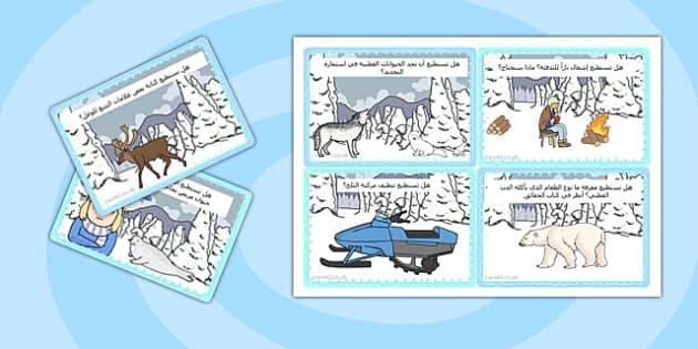 بطاقات تحدي عن القطب الشمالي