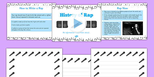 History of Rap and Creating a Rap PowerPoint - cfe, Literacy, poetry, rap
