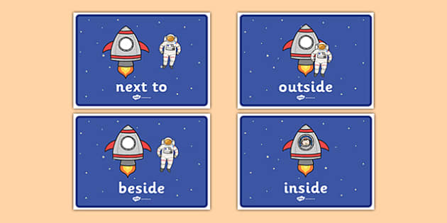 Astronauts Positional Language Display Posters - astronauts, positional language, display posters
