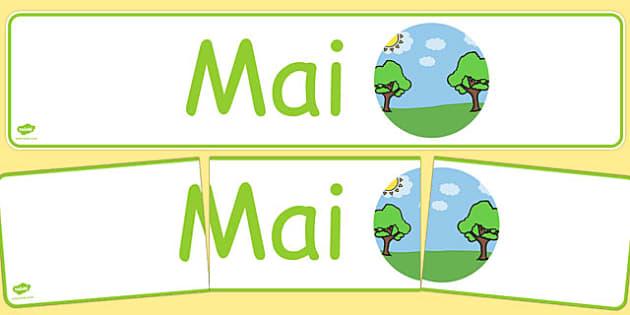 Mai Display Banner Cymraeg - cymraeg, year, months of the year, may