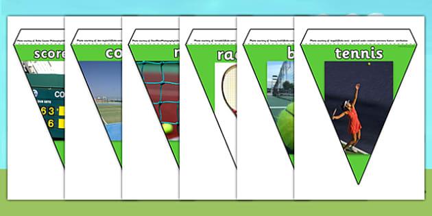 Wimbledon Display Photo Bunting - tennis, sports, pe, movement