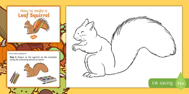 Leaf Squirrel Craft Instructions