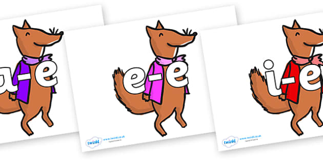 Modifying E Letters on Small Fox 1 to Support Teaching on Fantastic Mr Fox - Modifying E, letters, modify, Phase 5, Phase five, alternative spellings for phonemes, DfES letters and Sounds