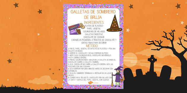 Galletas de sombrero de bruja Receta-Spanish