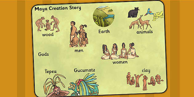 Mayan Civilization Creation Story Word Mat - ancient maya, mayans