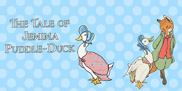 The Tale of Jemima Puddle-Duck Stick Puppets - jemima puddle-duck