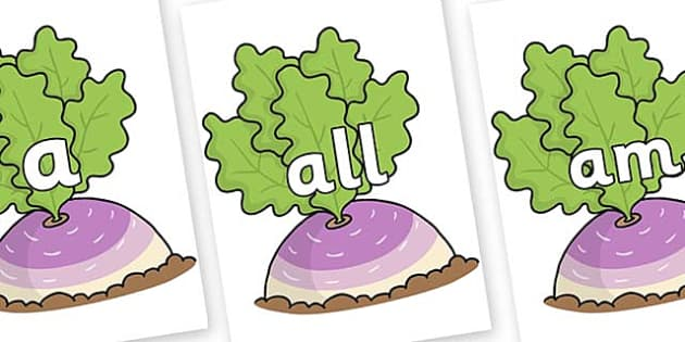 Foundation Stage 2 Keywords on Turnip in the Ground - FS2, CLL, keywords, Communication language and literacy,  Display, Key words, high frequency words, foundation stage literacy, DfES Letters and Sounds, Letters and Sounds, spelling
