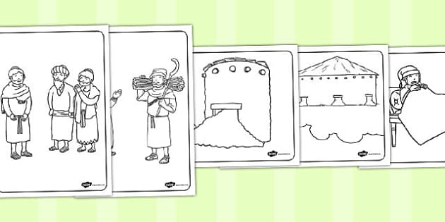 The Rich Fool Colouring Sheets - parables, rich fool, fool, rich