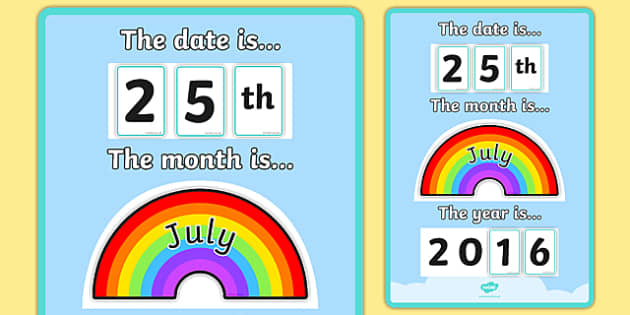 Month and Year Rainbow Poster - month and year, rainbow poster, rainbow, poster, display poster, display