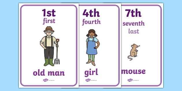 The Enormous Turnip Ordinal Numbers Posters