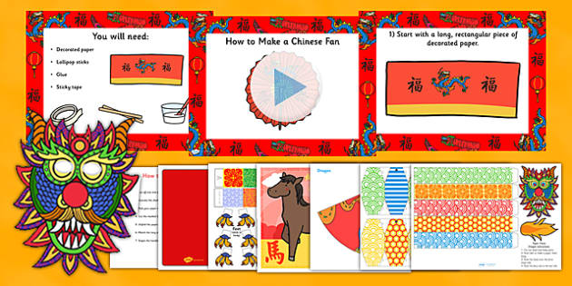 Chinese New Year Printable Craft Resource Pack - chinese, craft