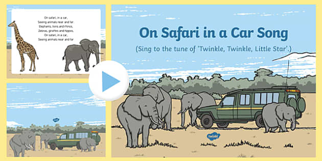 On Safari in a Car Song PowerPoint