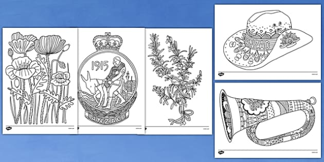 Anzac Colouring Pictures 53