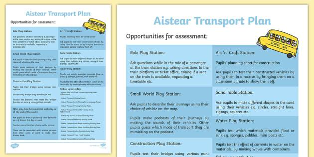 Aistear Transport Plan - aistear, transport, plan, roi, gaeilge, republic of ireland