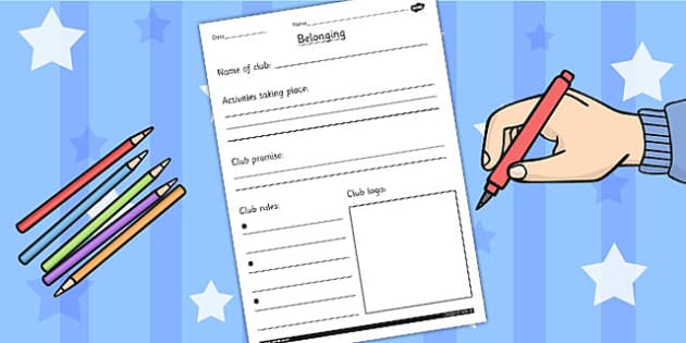 Belonging to a Club RE Worksheet - religion, religious education