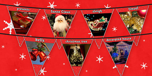 Christmas Photo Bunting - photos, banners, banner, displays