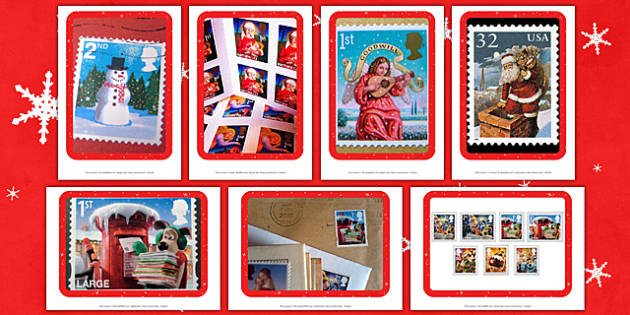 Christmas Postage Stamps Photo Pack - EYFS, Early Years, Christmas, Janet and Allan Ahlberg, The Jolly Christmas Postman, post office