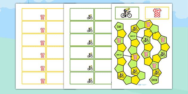 Tour de Yorkshire Themed Editable Board Game - le tour, games, sport
