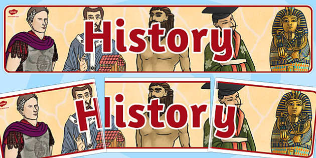 History Display Banner KS2 - history, display, banner, ks2, old