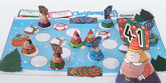 Subtraction from 10 Christmas Board Game - Games, Activities