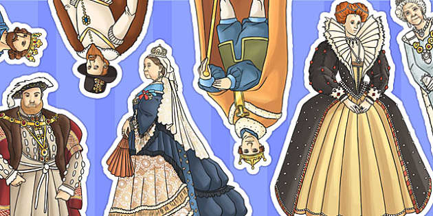 Significant British Monarchs Display Cut Outs - cut outs, display