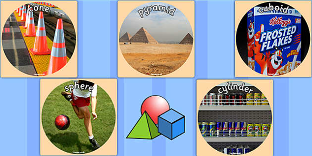 3D Shapes Display Photo Cut Outs - 3D, shapes, maths, numeracy